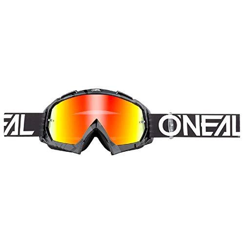 O'NEAL   Fahrrad- & Motocross-Brille   MX MTB DH FR Downhill Freeride   Hochwertige 1,2 mm-3D-Linse für ultimative Klarheit, UV-Schutz   B-10 Goggle   Erwachsene Unisex   Schwarz Weiß   One Size