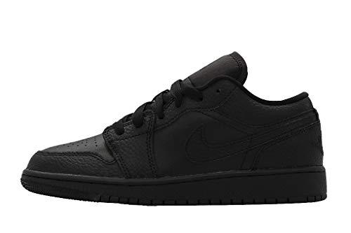 Nike AIR Jordan 1 Low (GS) Basketballschuh, Schwarz, 38.5 EU