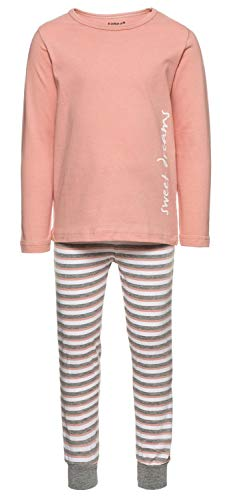 NAME IT Mädchen NMFNIGHTSET Rose TAN NOOS Zweiteiliger Schlafanzug, Mehrfarbig, 110