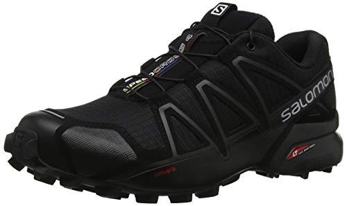 Salomon Herren Speedcross 4 Traillaufschuhe, Black Black Black Metallic, 46 EU