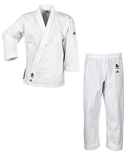 adidas Karateanzug K200E Kids Kinder Judo Anzug (inkl. Gürtel), Weiß, 170/180