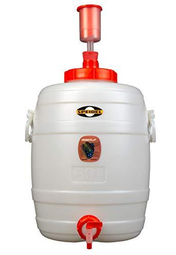 Speidel Getränkefass Rund 30 Liter mit Auslaufhahn NW 10 incl. Gärspund