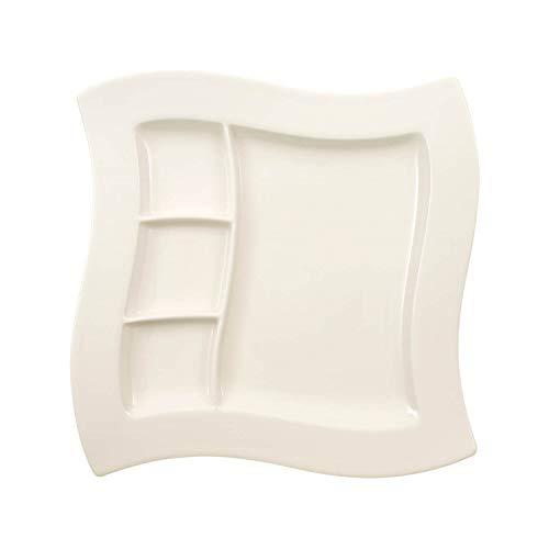 Villeroy & Boch NewWave Grillteller, Auch für Fondue geeignet, Premium Porzellan, 27 cm