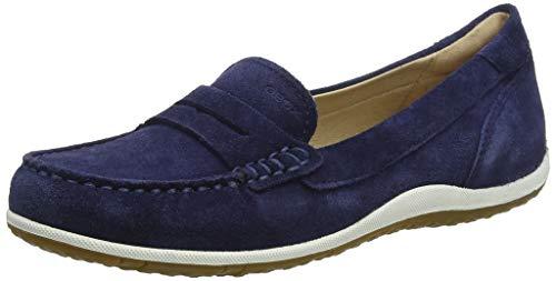 Geox Damen D Vega Moc A Mokassin, Blau (Blue C4000), 37 EU