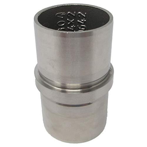 Rohr Verbinder gerade Premium Edelstahl für Handlaufrohre Außen Ø 42,4 mm von SO-TOOLS®