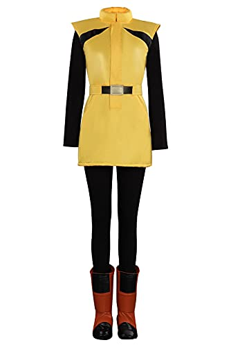 Enhopty Dragon Ball Z Bulma Outfits Halloween Carnival Suit Cosplay Costume Damen Gold S