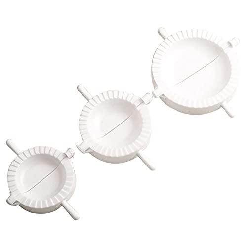HEVÜY 3er Set Ravioli Dumpling Former, Knödel-Hersteller Knödelmaschine Ravioli Ausstechformen Teigtaschenformer,Former Ravioliausstecher Dumpling Maker Knödel Gebäckform (3pcs)