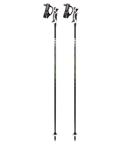 LEKI Erwachsene Skistock Carbon 14 S, Base Color: Black/Design: Cyan-Yellow-Anthr-White, 115 cm