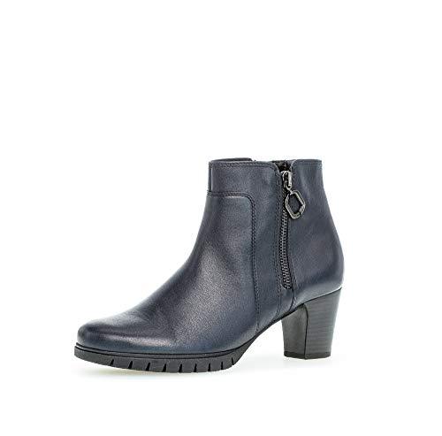 Gabor Damen Stiefeletten, Frauen Ankle Boots,Comfort-Mehrweite,Reißverschluss, uebergangsstiefel knoechelhoch Freizeit,Ocean (Micro),39 EU / 6 UK
