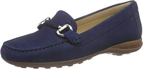 Geox Damen D EUXO D Mokassin, Blau (DK ROYALC4072), 36 EU