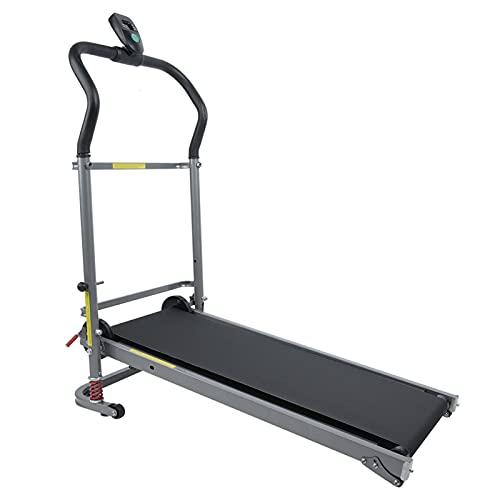 AYNEFY Laufband Klappbar Mechanisches Heimtrainer für GEH- und Lauftraining Zuhause, mit LCD Bildschirm, Kalorienzähler, 2 Steigung, Mini Fitnessgerät