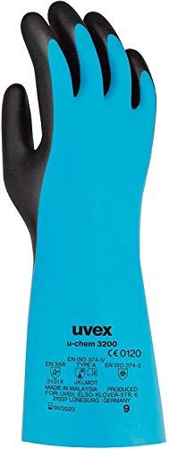 uvex u-Chem 3200 Schutzhandschuhe gegen chemische Risiken nach EN 388 - Wasserdicht - Gr. 11