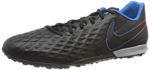 Nike Herren Tiempo Legend 8 Academy Tf Fußballschuh, Black Black Siren Red Light Photo Blue Cyber, 45 EU