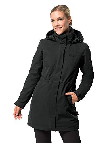 Jack Wolfskin Damen 3-in-1 Mantel Ottawa Coat, Schwarz (black), XS