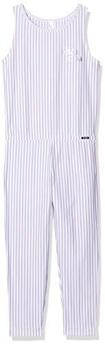 Skiny Mädchen Jump Suit 3/4 lang Cosy Night Sleep Girls Einteiliger Schlafanzug, Mehrfarbig (Lilac Stripe 2725), (Herstellergröße:176)