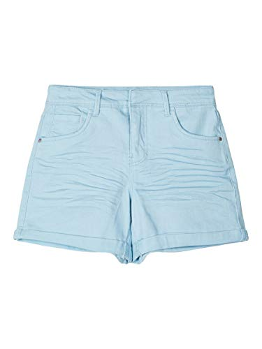 NAME IT Mädchen NKFROSE TWIABETTY MOM HW CD Shorts, Dream Blue, 128