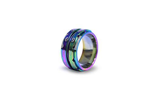 KnitPro KP10434 Row Counter: Rainbow: Ring Size 10, Rostfreier Stahl