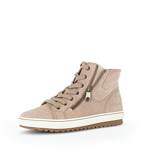 Gabor Damen High-Top Sneaker, Frauen Sneaker high,Halbschuhe,straßenschuhe,Strassenschuhe,Sportschuhe,Freizeitschuhe,Desert/Silk,40 EU / 6.5 UK