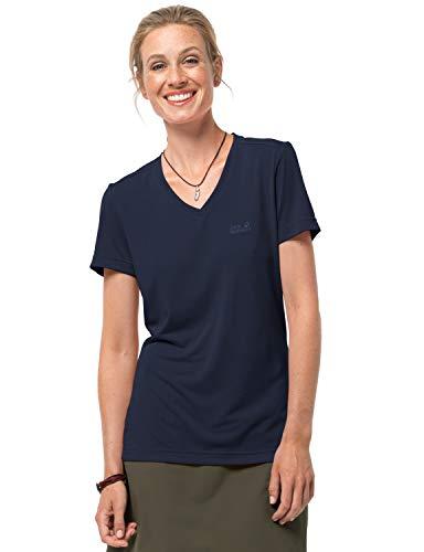 Jack Wolfskin Damen Funktionsshirt CROSSTRAIL T Women Leicht Atmungsaktiv Funktions Shirt, Midnight Blue, XXL, 1801692-1910006
