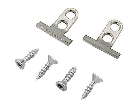 2 x Frontbefestigung Geschirrspüler passend für BSH Bosch, Siemens, Neff, Edelstahl Halterung Spülmaschine Türhalter Tür