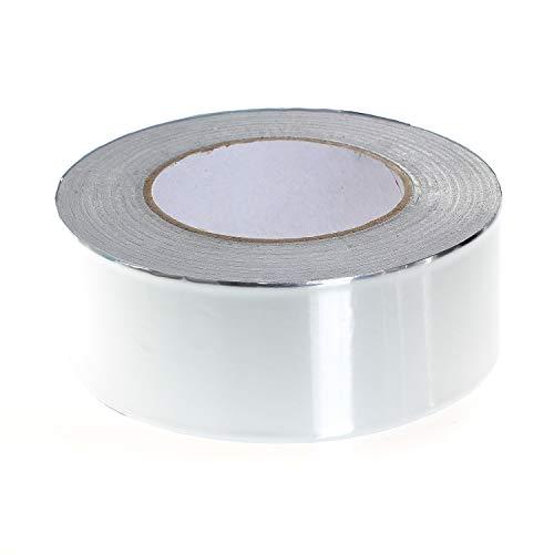 TUKA-i-AKUT Aluminiumband 48mm x 50 Meter, Aluminium Klebeband Rolle Isolierband Abdichtband Selbstklebend, Aluminiumklebebänder + 0,05mm Dicke + Rein-Alu Klebeband TKD5023