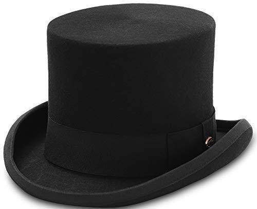 GEMVIE Zylinder Hoher Hut Magic Partyhüte Erwachsenenhut Hut Mütze für Damen und Herren Kopf 58-60cm