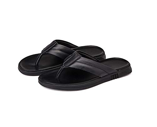 Beach Sandal Zehentrenner,Sauna Schuhe Sandalen,Lässige Flip-Flops, Strandschuhe mit weichen Sohlen - schwarz_43