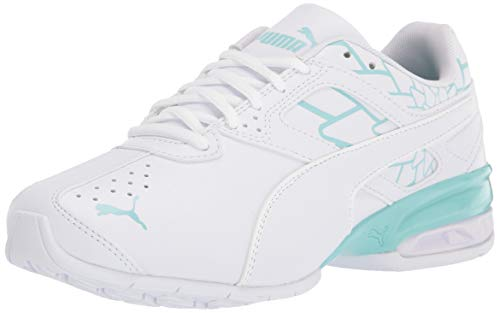 PUMA Damen Tazon 6 Crosstrainer, White-Aruba Blue, 40 EU