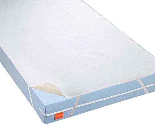 sleepling 191168 wasserundurchlässige Molton Matratzenauflage Inkontinenzauflage mit atmungsaktiver Beschichtung, 95 Grad kochfest, Made in Germany 60 x 120 cm bis 70 x 140 cm, weiß