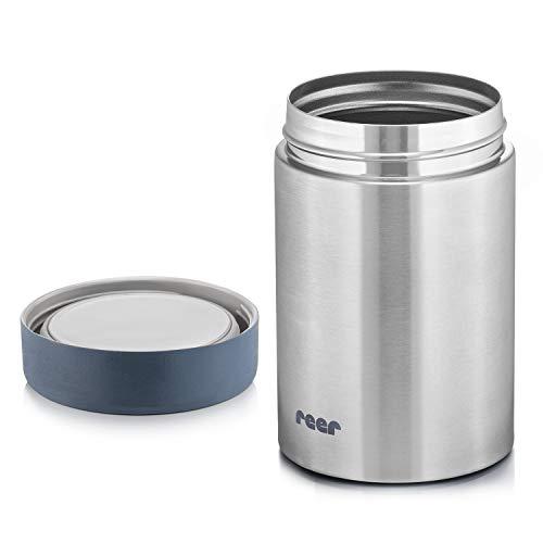 Reer Edelstahl-Warmhalte-Box PURE für Baby-Nahrung, 300 ml, silber 90408 W