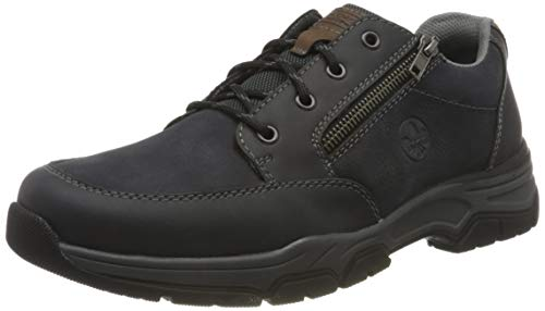 Rieker Herren 11230 Oxford-Schuh, blau, 41 EU