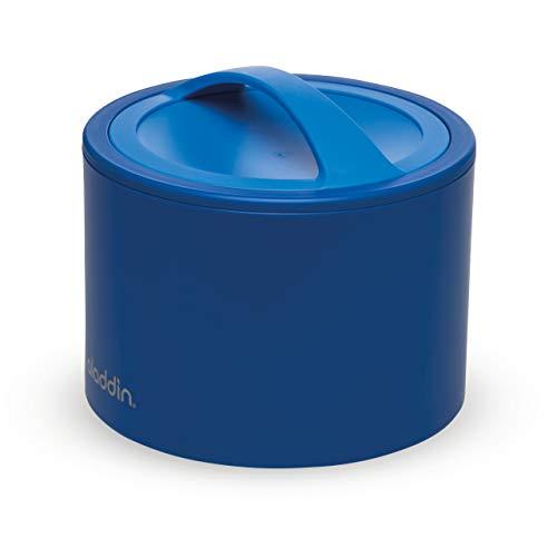 Aladdin Bento Lunch Box 0.6L Blau – Hält bis zu 5 Stunden Heiß oder Kalt - Doppelwandige Isolierung - Auslaufsicherer Deckel - BPA-Frei - spülmaschinen-/ mikrowellensicher
