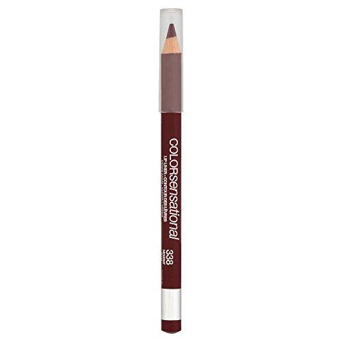 Maybelline New York Make-Up Lipliner Color Sensational Lippen Konturenstift Midnight Plum/Kräftiges Dunkelbraun mit pflegender Wirkung, 1 x 2,5 g