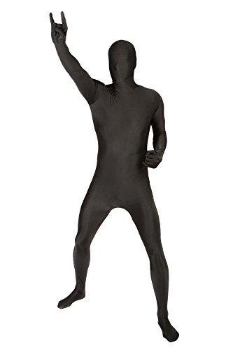 Morphsuits Herren Farbe Costume Body Suit, Schwarz, L