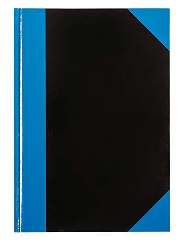 Idena 542901 - Kladde, 96 Blatt, Cover blau/schwarz, 70 g/m², liniert, fester Einband DIN A5