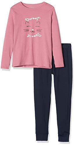 NAME IT Mädchen 13177801 Zweiteiliger Schlafanzug, Mehrfarbig(Heather RoseHeather Rose), 110 (Herstellergröße: 110-116)
