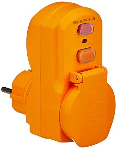 Brennenstuhl Personenschutz-Adapter BDI-A 2 30 IP54 / Personenschutzstecker für außen (zweipolige Abschaltung, 30mA)