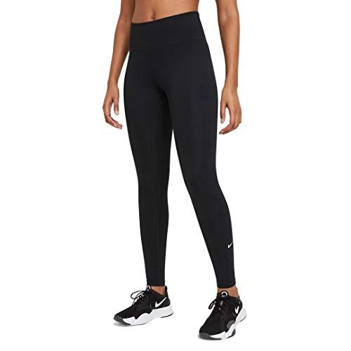 Nike Damen One Df Mr Tgt Hose, Black/White, L