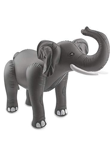 Folat 20271 Aufblasbarer Elefant Grau, keine, Einheitsgröße
