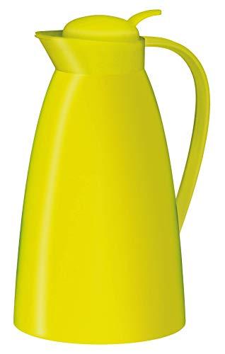 alfi Kaffeekanne Eco, Thermoskanne Kunststoff grün 1l, mit alfiDur Glaseinsatz, 0825.082.100, Isolierkanne hält 12 Stunden heiß, ideal für Kaffee oder Teekanne, Kanne für 8 Tassen