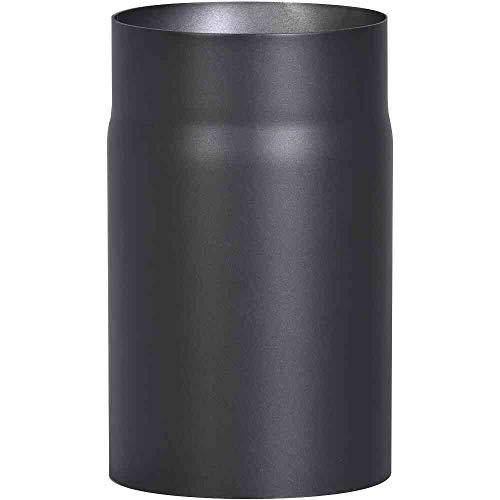 FIREFIX R150/2 Ofenrohr aus 2 mm starken Stahl (Rauchrohr) in 150 mm Durchmesser, für Kaminöfen und Feuerstellen, Senotherm, schwarz, 250 mm lang