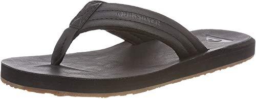 Quiksilver Herren Carver Nubuck - Sandals for Men Zehentrenner, Schwarz (Solid Black Sbkm), 45 EU