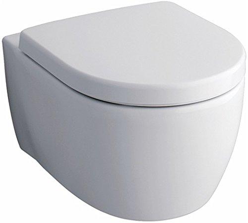 Geberit Tiefspül-WC iCon (6 Liter, wandhängend, aus Sanitärkeramik, Befestigung von oben) 204000000