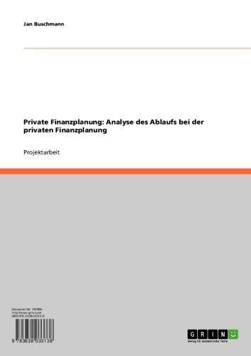 Private Finanzplanung: Analyse des Ablaufs bei der privaten Finanzplanung