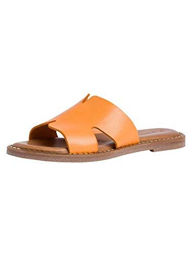 Tamaris Damen Pantolette 1-1-27135-26 606 orange weit Größe: 40 EU