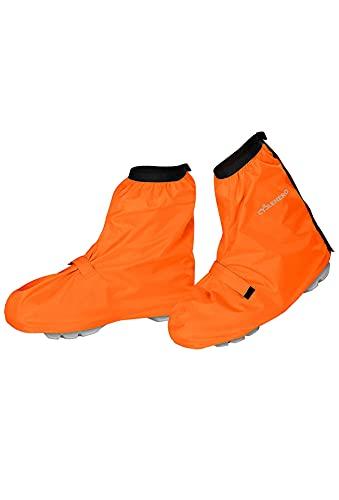 CYCLEHERO Fahrrad Regenschutz Schuhe - Premium Design, Optimaler Halt - Überschuhe Fahrrad Wasserdicht - Top Fahrrad Gamaschen by Orange