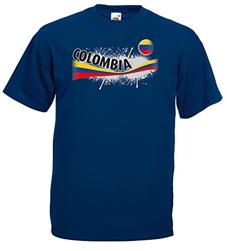 Kolumbien Herren T-Shirt Columbia Vintage Trikot|m-L
