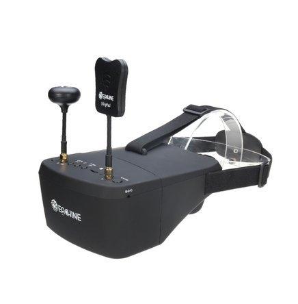 FPVstore Eachine EV800 FPV Brille 5.8G 40CH Diversity 5 Inch 800*480 Video Headset Build in HD DVR Batterie für RC Quadcopter