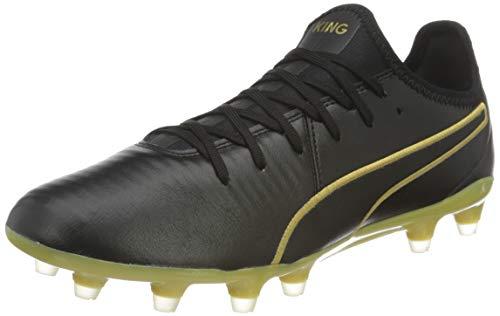 PUMA Unisex King Pro Fg Fußballschuhe, Team Gold Schwarz, 39 EU