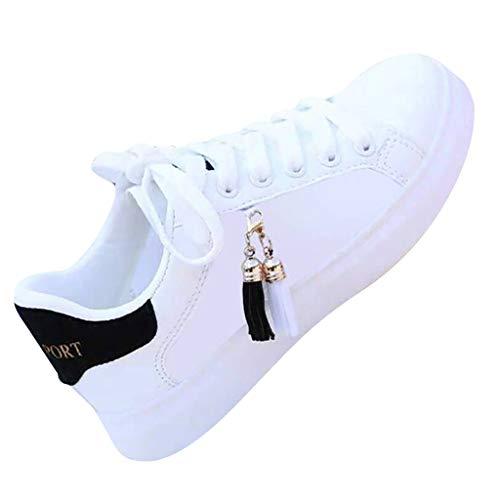 Dasongff Sneaker Damen Sportschuhe mit Quaste Freizeitschuhe Walkingschuhe Sneaker Wanderschuhe Trainers Schuhe Laufschuhe Luftkissen Turnschuhe Fitness Gym Outdoor Schuhe Trekkingschuhe